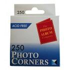 The Photo Album Company Dispenser Box with 250 Photograph Photo Corner - Clear