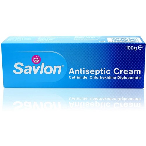 Antiseptic Healing Cream Savlon 100g First Aid Treatment Minor Wounds Skin