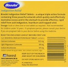 Bisodol Acid Indigestion Relief Heartburn Trapped Wind 100 Tablets