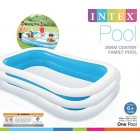 "Intex Swim Centre Family Inflatable Pool, 103"" x 69"" x 22"" (Assorted Colors: Blue or Green)"