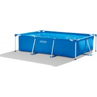 Intex 28272 Metal Frame Rectangular Pool without Filter Pump, 3834 L, Blue, 300 x 200 x 75 cm