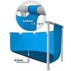Intex 28272 Metal Frame Rectangular Pool without Filter Pump, 3834 L, Blue, 300 x 200 x 75 cm