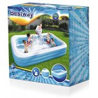 Bestway Family Pool, pool rectangular for children, easy to assemble, blue, 201 x 150 x 51 cm