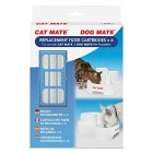 Genuine Replacement Filter Cartridges for use with Cat Mate and Dog Mate Pet Fountains - Pack of Two