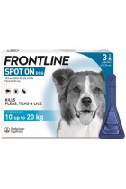 FRONTLINE Spot On Flea & Tick Treatment for Medium Dogs (10-20 kg) - 3 Pipettes
