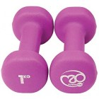 Fitness Mad Unisex Neo Dumbbells 2 x 1kg Purple