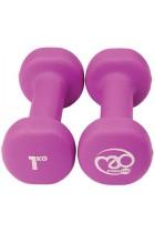 Fitness Mad Unisex Neo Dumbbells 2 x 1kg Purple