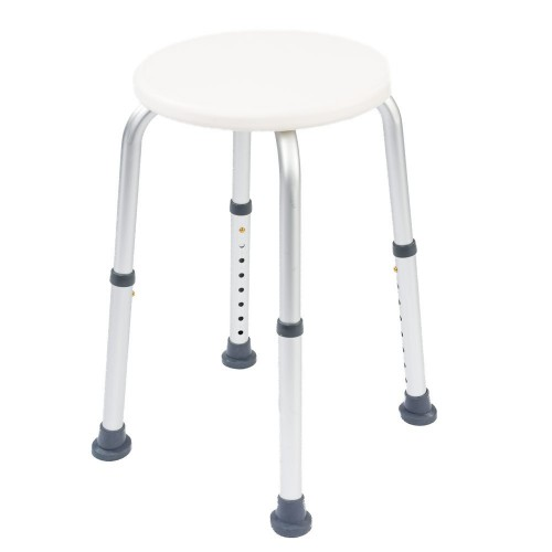 NRS Healthcare Round Shower Stool L97718 Height Adjustable