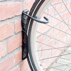 Set Of 2 Bicycle Holders, Wall-Mount, For Bike Wall Storage, Tyre Holders, Black