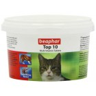 Beaphar Top 10 Cat Vitamin 180 Tablets Food Supplement For Cats Fish Flavour