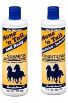 Thick Hair Shampoo Conditioner Main Tail Natural Oil Anti Fungal Hair Bundle