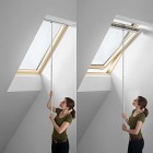 VELUX Genuine Original Telescopic Rod Pole to Operate GGL GGU Type Skylight Roof Windows and Blinds with Handle Bars