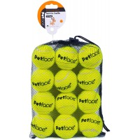 Petface Tennis Balls for dogs, throw and fetch, outdoor exercise, 12 pack