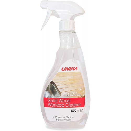 Unika PH7 Neutral Solid Wood Worktop Cleaner for Oiled Worktops - 500ml Spray