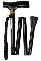 Days Adjustable Folding Walking Stick, Lightweight Height Adjustable Walking Stick, Portable Cane with Ergonomic Handle, Non-Slip Base, 740-835 mm/29-33 Inches