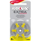 Rayovac Extra Advanced Zinc Air Hearing Aid Battery, Pack of 10, with 60 Batteries, Suitable for Hearing Aids Hearing Aids Sound Amplifier, Yellow