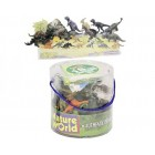 18 Piece Dinosaurs In Tub Dinosaur Adventure Set Creative Play Ages 5+
