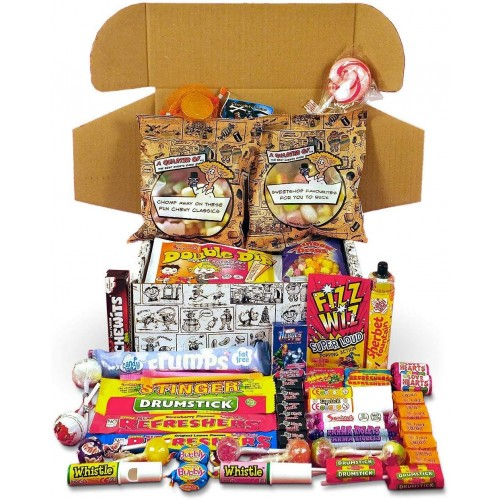 Best Retro Sweets Cartoon Box Selection - Your Childhood Sweetshop In A Box