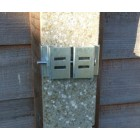 "Postfix Slotted Concrete Fence Post Brackets to Fit 4"" x 4"" Posts 4 SETS - Fix Anything to Concrete Posts Just Clamp On - NO Drilling!"