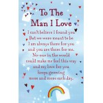 "To The Man I Love Keepsake Card & Envelope 3.5"" x 2"""