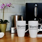 Morning Gorgeous Handsome Couples Coffee Mugs