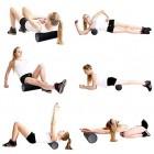 VLFit Foam Roller Yoga Pilates for Massage Workout Exercise Rehab Crossfit - 45cm x 15cm Blue