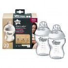 Tommee Tippee Closer to Nature Clear Bottles 260ml Pack of 6 Newborn Accessories