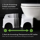 HOCA Original Bathroom Toilet Stool, Medically Tested Squatting Toilet Stool, Non-invasive Remedy for Haemorrhoids, Constipation, IBS, Flatulence, Bloating - Aligns Colon for Complete Bowel Movement