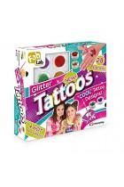 FabLab Glitter Tattoos Kit Set 25 Sparkly Glittery Festival Party Fun Temporary