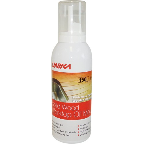 Unika Solid Wood Worktop Oil Mousse