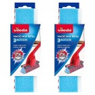 Mop Replacement Heads Vileda Magic 3 Action Refil Absorbent Clean Pack of 2