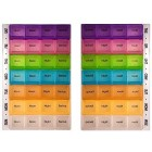 PuTwo Pill Box 7 Days 28 Compartments Pill Organisers BPA Free Pill Box Large Capacity Medicine Organiser for Vitamin Fish Oil Supplements Medication - Multicolour