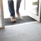Large Outdoor Rubber Entrance Mats Anti Slip Drainage Door Mat Flooring