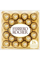 Ferrero Rocher Chocolate Gift Set, Hazelnut and Milk Chocolate Pralines, Box of 24 Chocolates