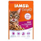 IAMS Delights Wet Food Land and Sea Collection for Adult Cats with Meat and Fish in Gravy, 24 x 85 g
