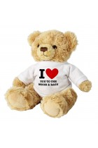 """I LOVE YOU TO THE MOON AND BACK 7"""" TEDDY BEAR"""