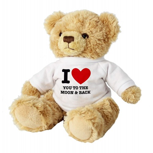 "I LOVE YOU TO THE MOON AND BACK 7"" TEDDY BEAR"