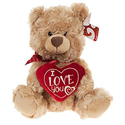 "10"" Soft Plush Teddy Bear Holding I Love You Heart Valentines Day Gift"