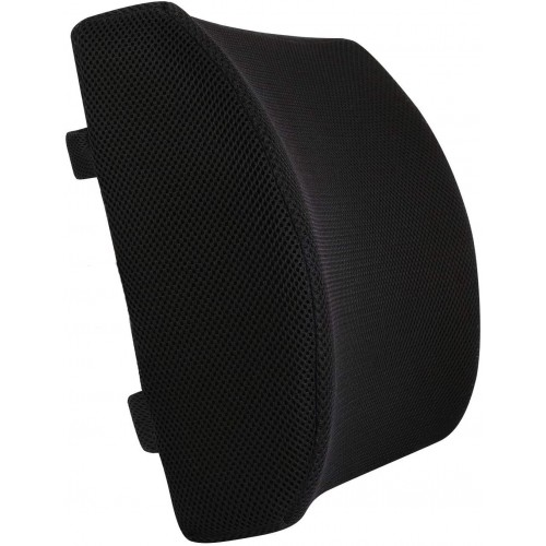 3D Mesh Chair Black Lumbar Support Pillow Back Rest Chair Cushion Memory Foam Support Travel OL4