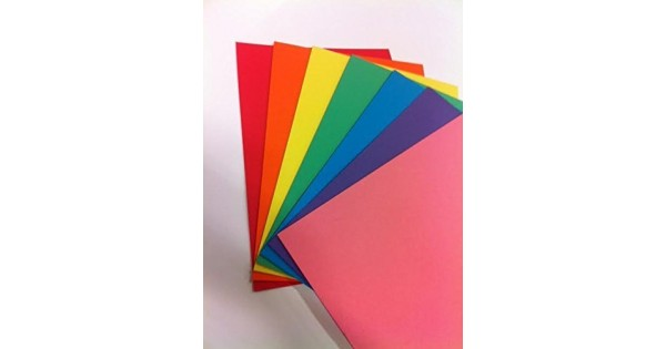 RAINBOW Intensive A4 160 gsm Bright Rainbow Coloured Card Pack of 70 Sheets