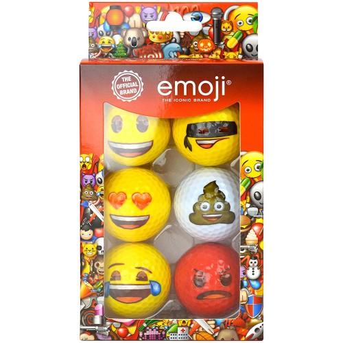 Emoji Official Novelty Fun Golf Balls - 6 Pack