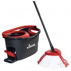 Vileda Turbo Microfibre Mop and Bucket Set, Removes Over 99% of Bacteria with Just Water