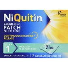 NiQuitin Clear 24 Hour 7 Patches Step 1, 21mg 1 Week Kit Quit Smoking
