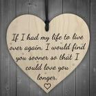 Love You Longer Wooden Hanging Heart Shaped Plaque