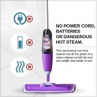 Vorfreude – Floor Mop with Integrated Spray and Lifetime Guarantee – Included Refillable 700 Milliliter Capacity Bottle and Reusable Microfibre Pad