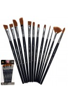 Paint Brushes 12 Set Professional Paint Brush Round Pointed Tip Nylon Hair