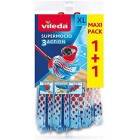 Vileda SuperMocio Microfibre and Cotton Mop Refill, Pack of 2
