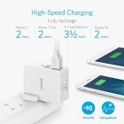 Anker USB Plug Charger 5.4A/27W 4-Port USB Charger, PowerPort 4 Lite