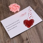 Love Card Imitation Wood Greeting Card