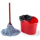 Vileda SuperMocio Microfibre and Cotton Mop with Extra Refill, Red